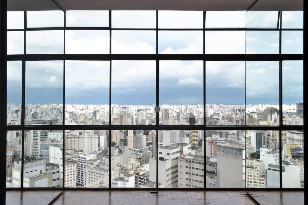 Window with Mirror Doors
