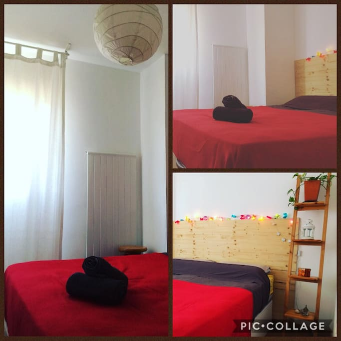 Habitación doble con aseo y ducha privado. Cama de viscoelástica y canapé de gama alta. Muy cómodo. Ideal para el descanso.