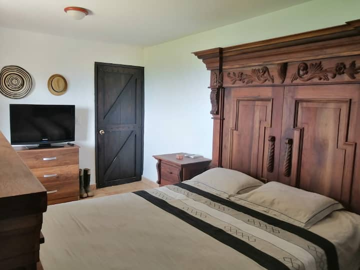 Habitación doble en granja, Finca El Refugio