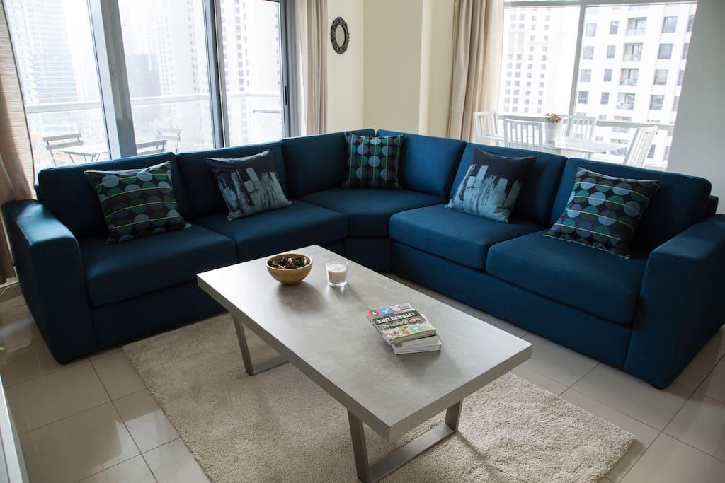 Big and comfortable sofa
