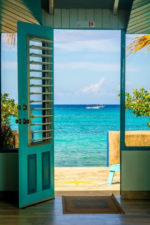 Bahía - Encantadora cabaña de playa, loft/persianas de madera