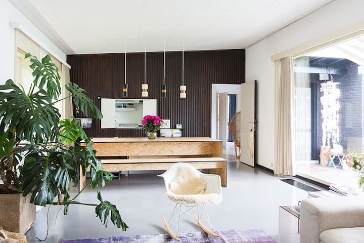 Spacious and green architect's house