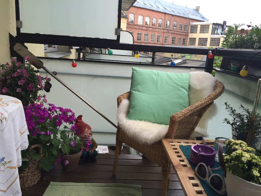 Trivelig balkong om sommeren!