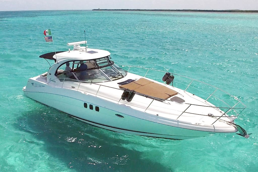 Deluxe Private Boat Tours. 12 pax on this 40 foot Searay.