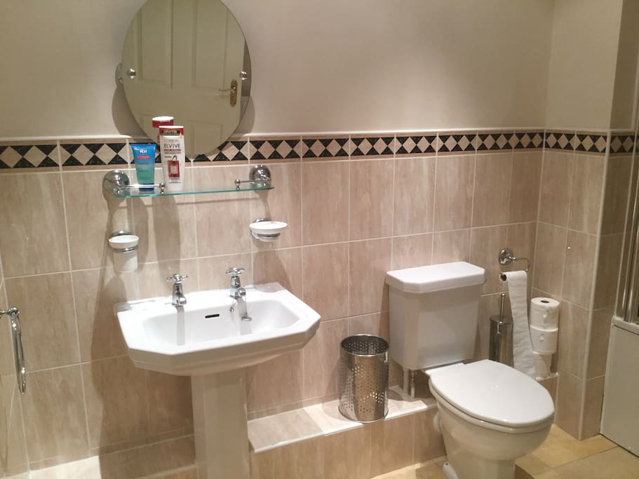 Exclusive use of modern clean bathroom and shower
