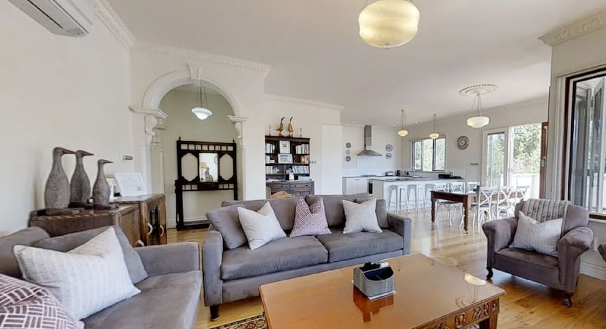 Open plan living with Victorian character throughout
