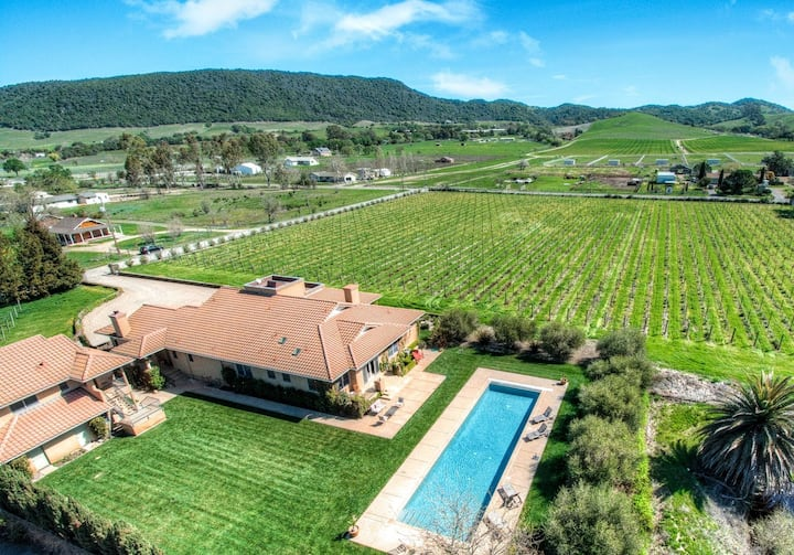 Explore 7-Acre Estate with Private Vineyard & Pool