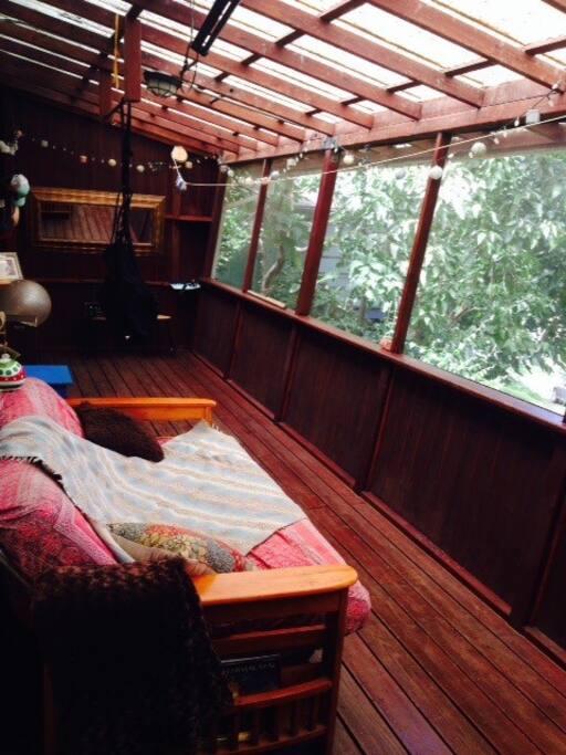 inclosed deck