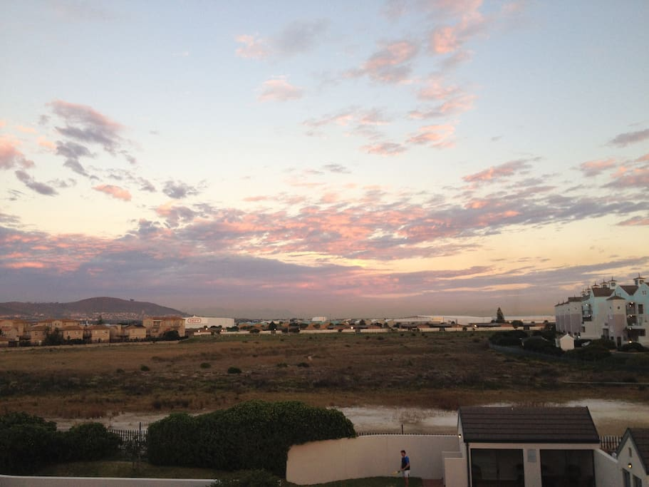 Sunrise from our balcony :)