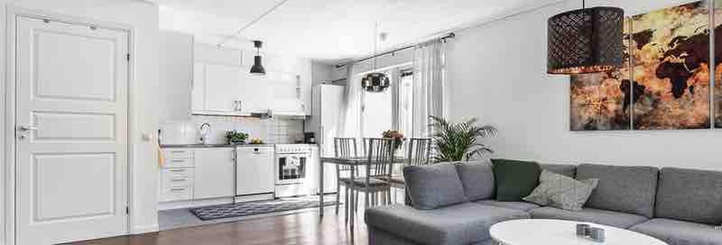 Lägenhet i lugnt område nära Sthlm Stad.