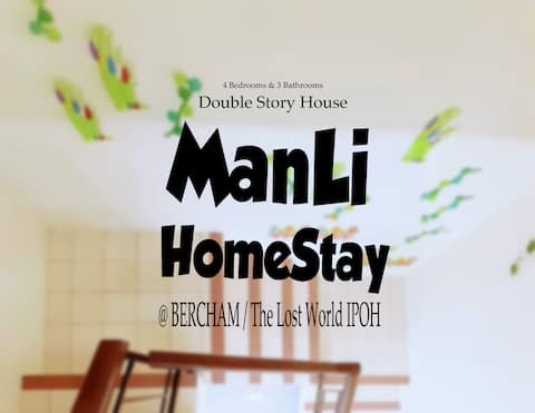 ManLi Homestay Ipoh @ 4 Bedrooms, Washer & Kitchen