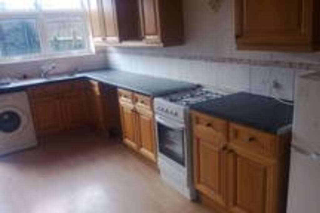 Sunny huge kitchen