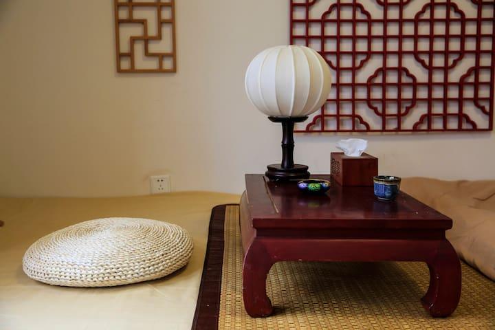 静园小院——中式大床房 - Pekin - Daire