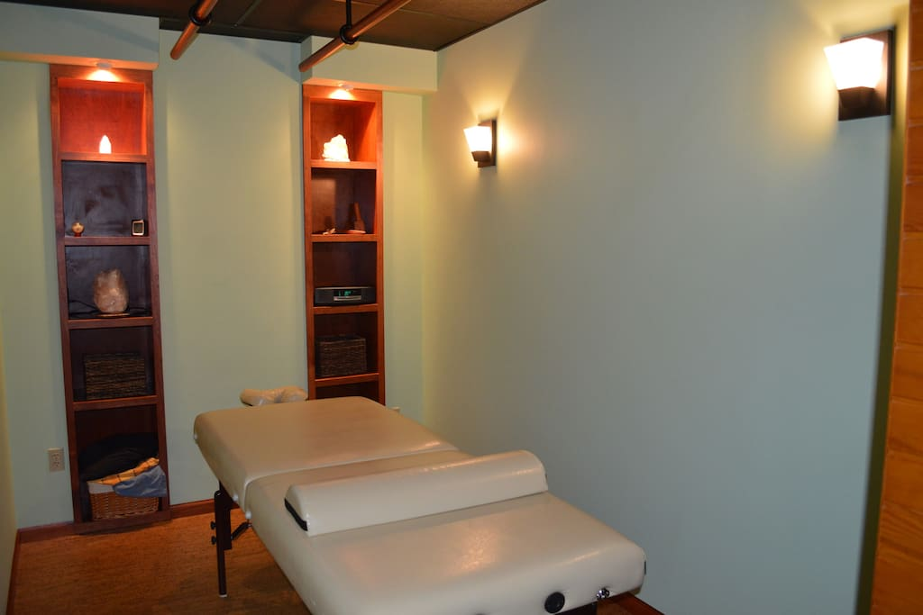Resident massage therapist providing Swedish, Deep Tissue and Ashiatsu by appointment for additional fee.