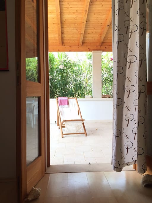 View of the verandah from the bedroom