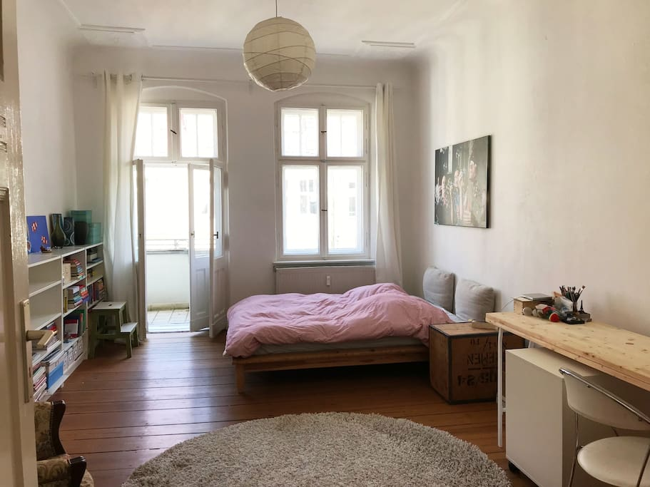 Bedroom, w balcony