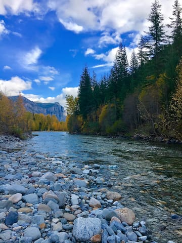 Methow river in fall