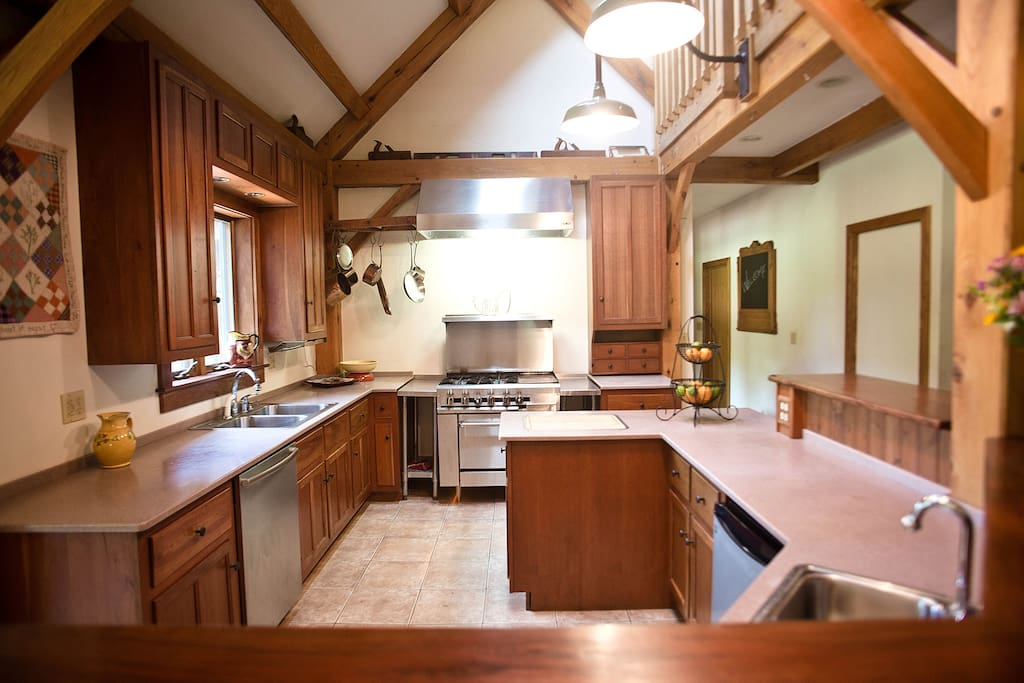 Kitchen with Commercial Range
