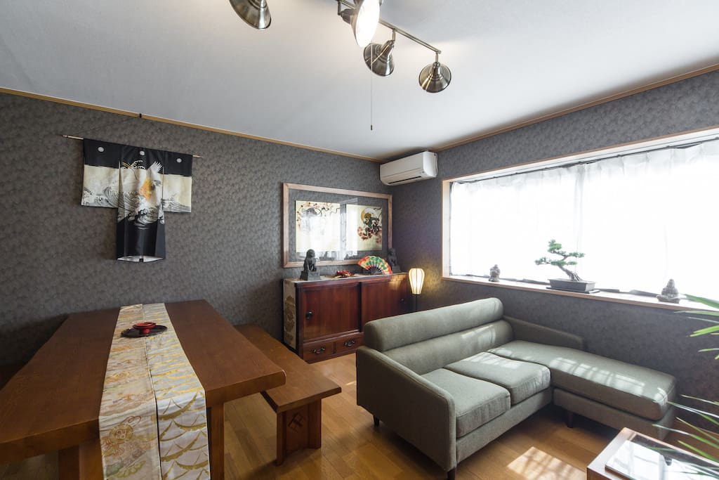 Living room and dining space. 広いリビングダイニング