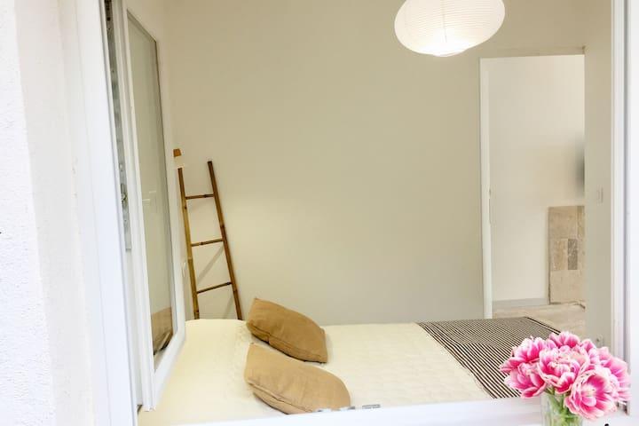 Chambre séparée avec lit en 140/200cm