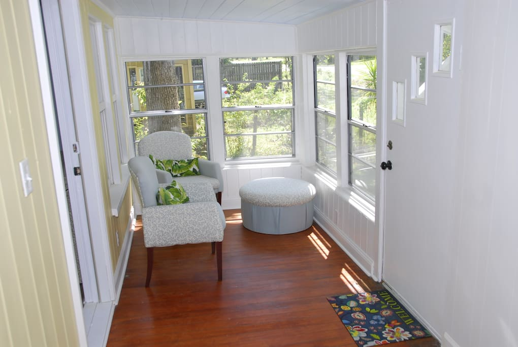 Breezy enclosed front porch