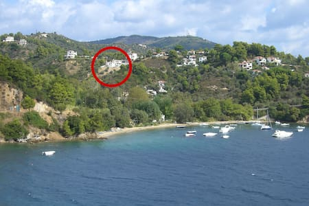 Great view, quiet area, short walk to the beach - Sporades
