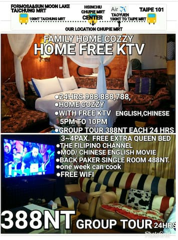 HOME COZY FAMILY  FREE KTV ENGLISH CHINESE