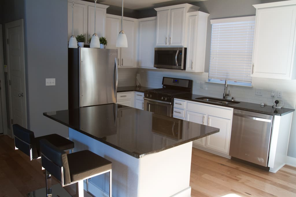 The kitchen. Has the basics.