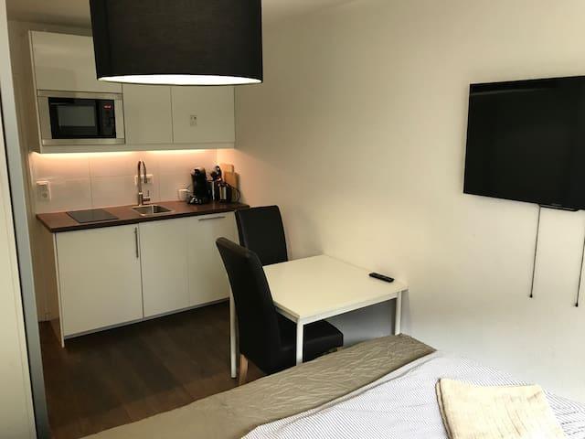 One Bedroom Appart, optional Garage €7.- per night