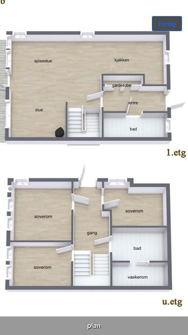 Floorplan room for rent is smallest close to stairs