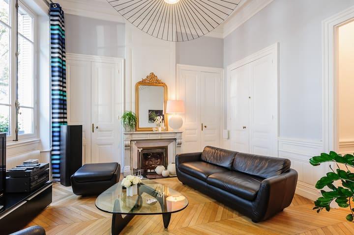 Big room in luxury appart city center quai duRhône
