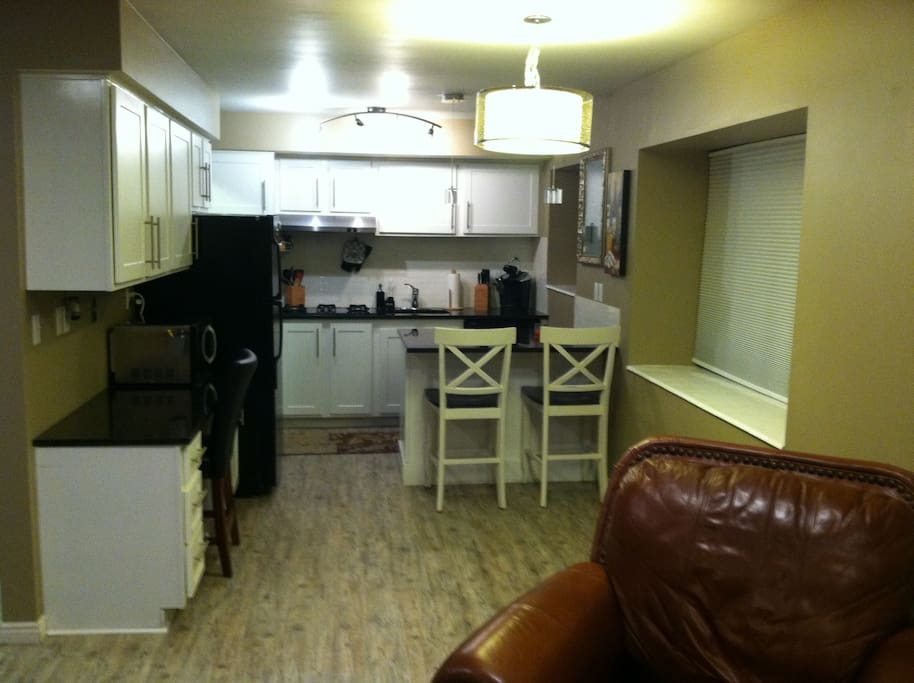 Open living and kitchen space