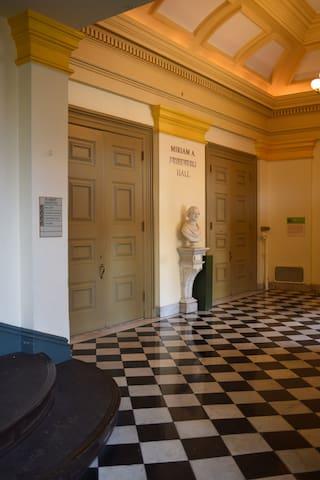 Peabody Concert Hall vestibule