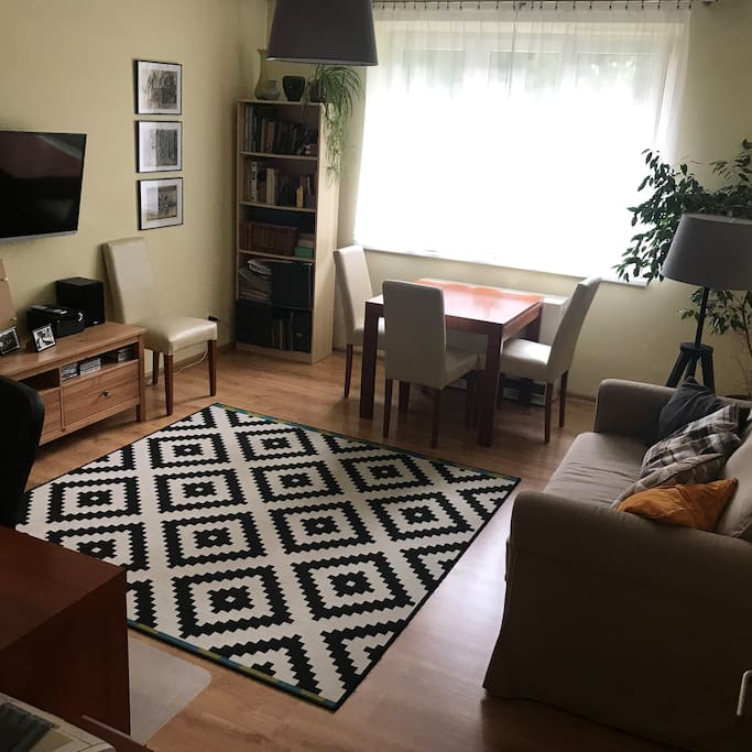Pokój dzienny, 2-osobowa sofa.