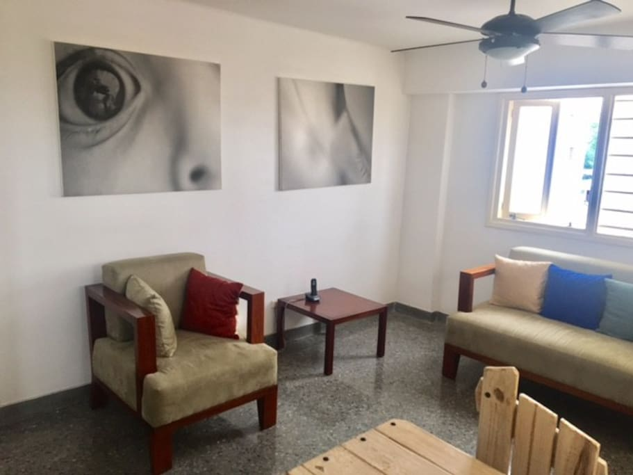 Sala del apartamento