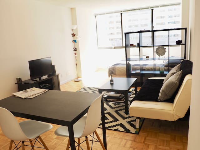 Charming studio in Newport, mins from Manhattan - Jersey City - Flat