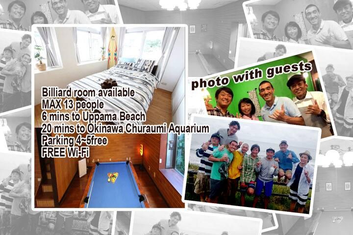 Whole house for rent! pool table! Close Aquarium!!