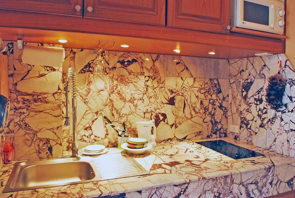 Lovely Marble Kitchen