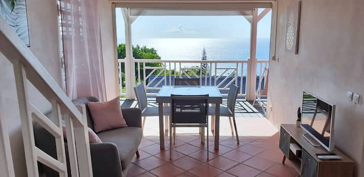 Duplex for up to 4 guests with sea views  🏝