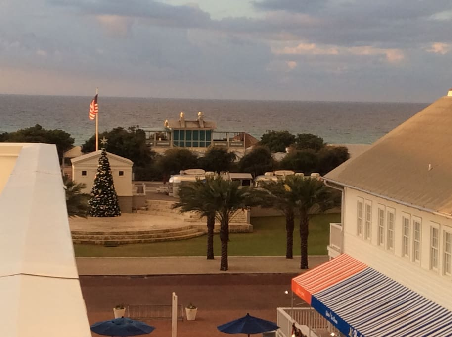 View of the Gulf of Mexico from our rooftop