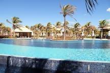 Swimming pools and bar
