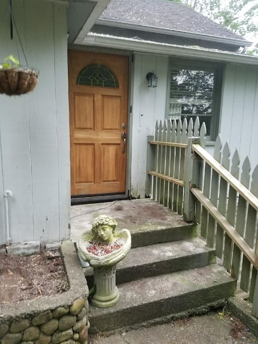 Entryway with entry code.