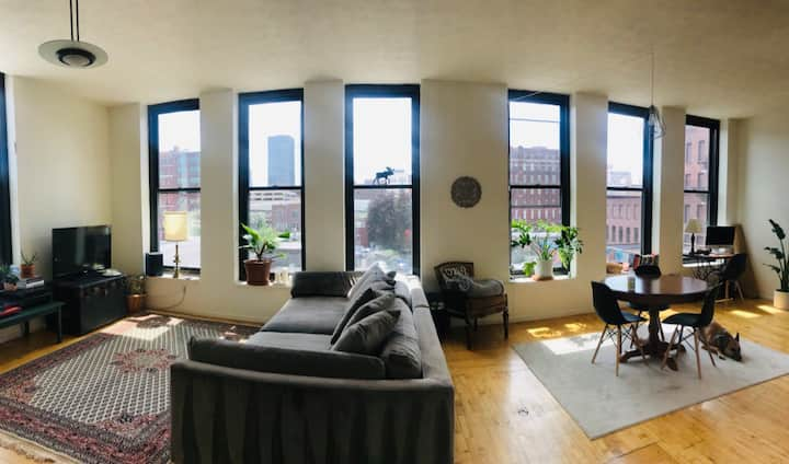 Spacious 2 Bedroom Loft Apartment Downtown