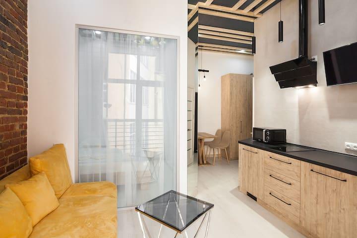 One-bedroom apartment on Tugan-Baranovskogo 24