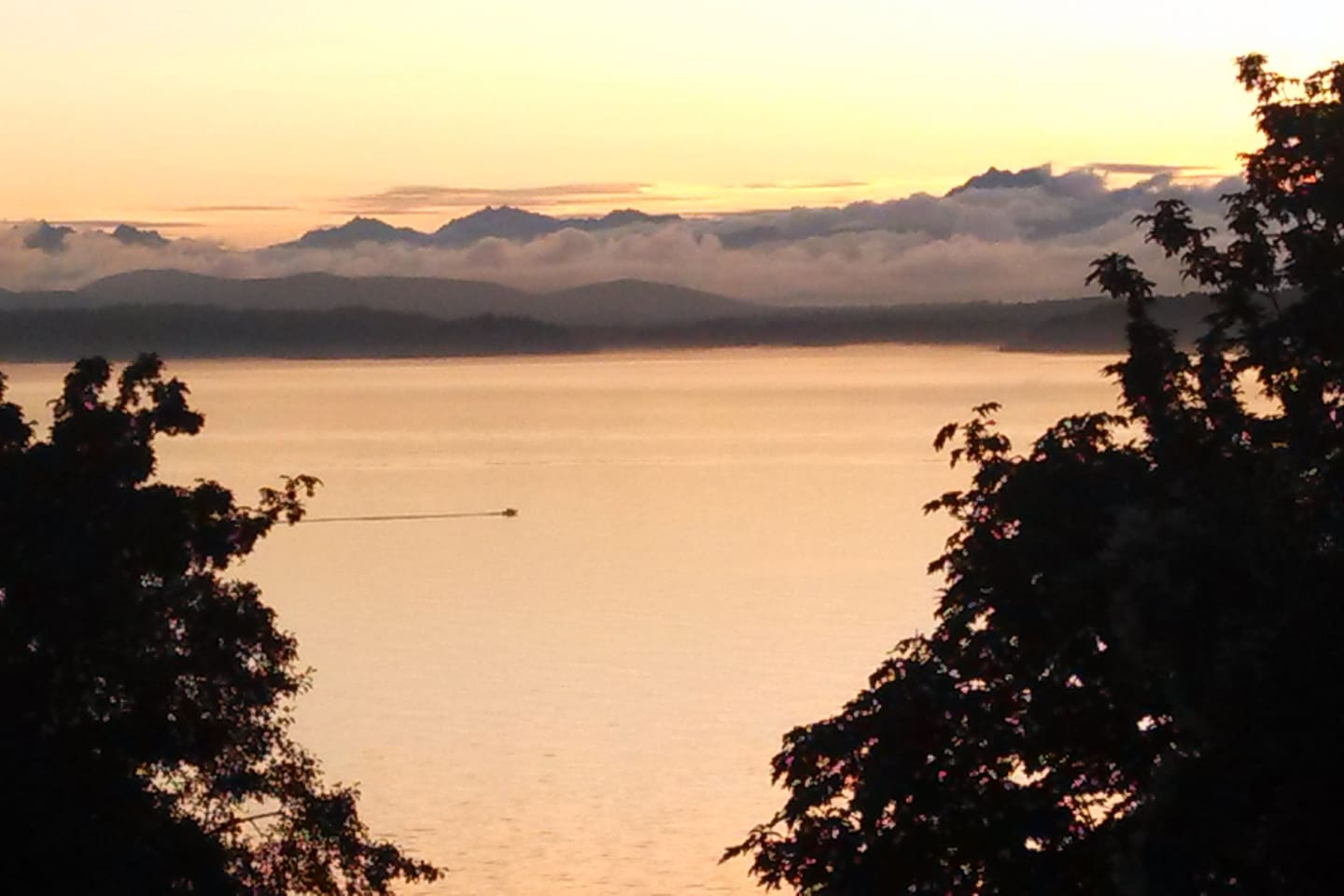 Blake Island, Puget Sound, and the Olympic Mountains