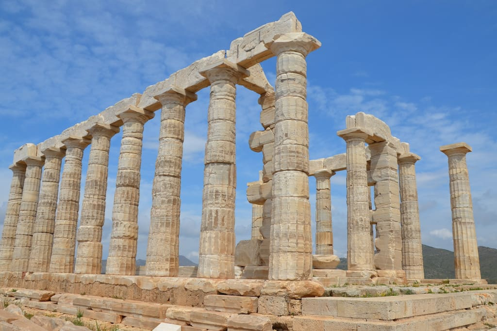 The Temple of Poseidon and Cape of Sounio are just 20 min away on foot
