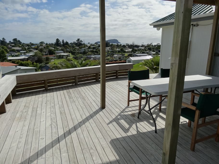 Deck with views of Pauanui