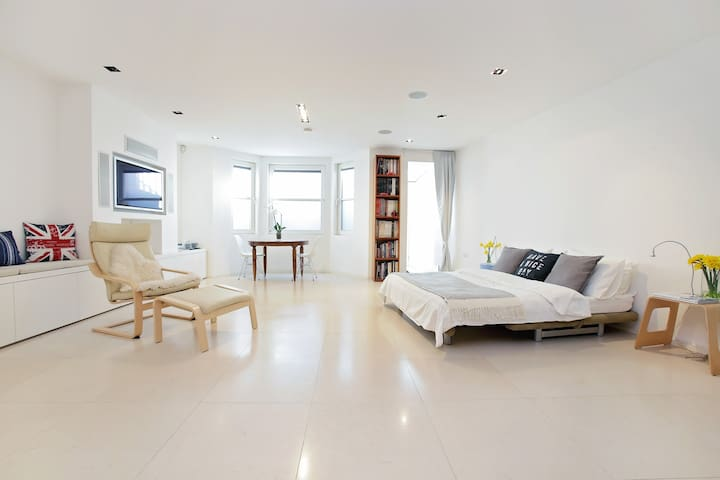 Spacious modern basement flat - London - House