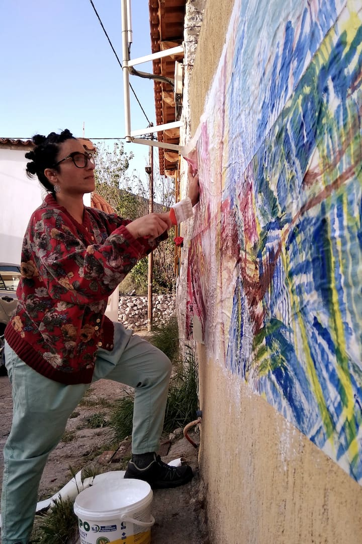 Mural painting in the village