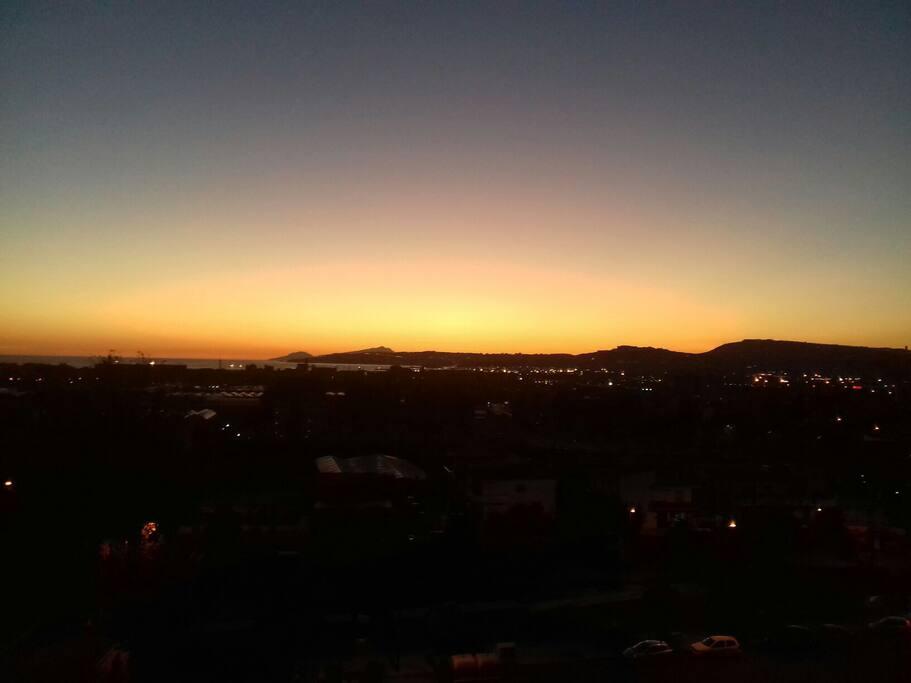 tramonto  da Palazzo del mare